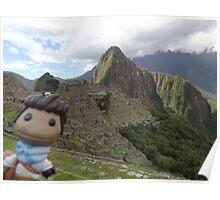 Drake Sackboy at Machu Picchu Poster