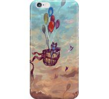 Chasing butterflies iPhone Case/Skin