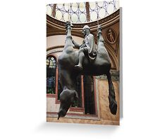 St. Wenceslas Riding A Dead Horse Greeting Card