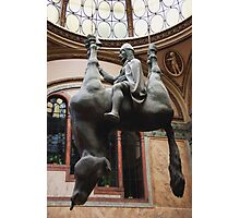 St. Wenceslas Riding A Dead Horse Photographic Print