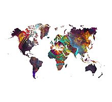 World Map fractal 2 Photographic Print