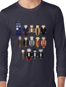 Pixel Doctor Who Regenerations Long Sleeve T-Shirt