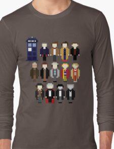 Pixel Doctor Who Regenerations Long Sleeve T-Shirt