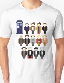 Pixel Doctor Who Regenerations Unisex T-Shirt