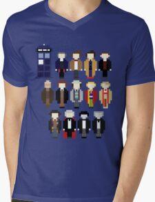 Pixel Doctor Who Regenerations Mens V-Neck T-Shirt