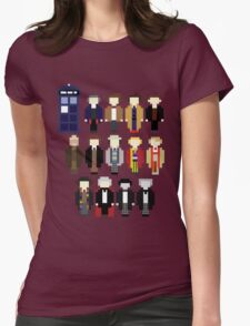 Pixel Doctor Who Regenerations Womens Fitted T-Shirt