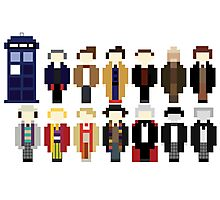 Pixel Doctor Who Regenerations Photographic Print