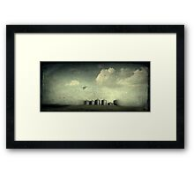 Silos of the Praires Framed Print