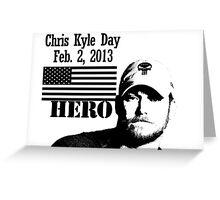 Chris Kyle RIP v2 Greeting Card