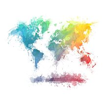 World Map splash 2 by JBJart