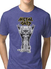 metal cats Tri-blend T-Shirt