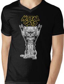 metal cats Mens V-Neck T-Shirt