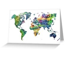 Map of the world geometric Greeting Card