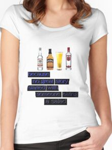 ALCOHOL Women's Fitted Scoop T-Shirt
