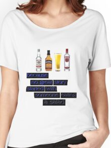 ALCOHOL Women's Relaxed Fit T-Shirt