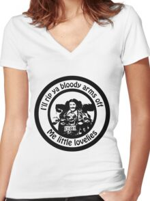 Aunty Jack Women's Fitted V-Neck T-Shirt