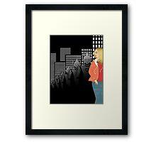 Deco Who - Rose Framed Print