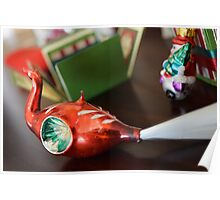 Red Swan Ornament Poster
