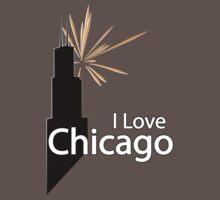 I Love Chicago One Piece - Short Sleeve