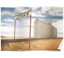 Lothair, Montana Poster