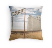 Lothair, Montana Throw Pillow