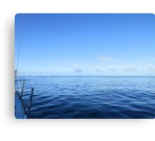 view of sailing clouds from aboard  Canvas Print