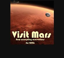 Mars Travel Poster - Now Accepting Reservations Unisex T-Shirt