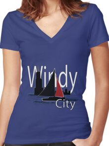Windy City Women's Fitted V-Neck T-Shirt