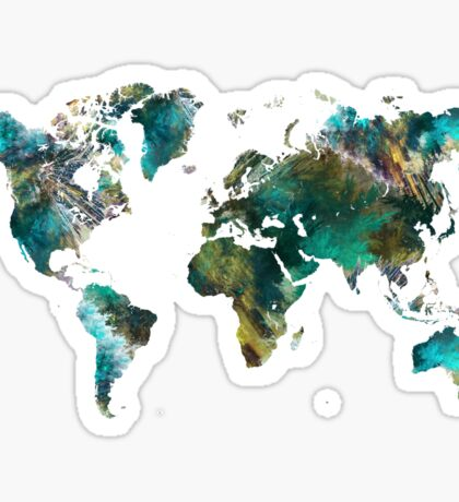 World Map tree Sticker