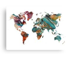 World Map triangle Canvas Print