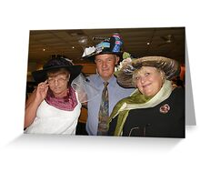 Cup day dress up winners Greeting Card