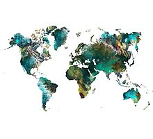 World Map tree Photographic Print