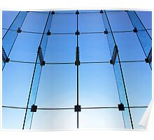 Glass wall structure Poster
