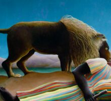 Henri Rousseau - The Sleeping Gypsy Sticker