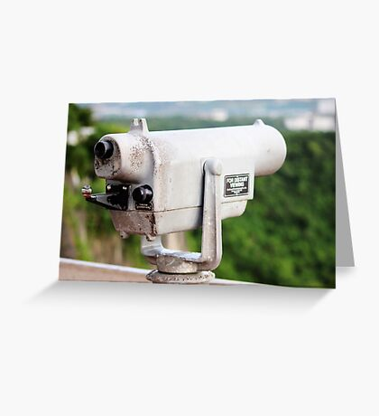 Telescope at Two Lovers Point Greeting Card
