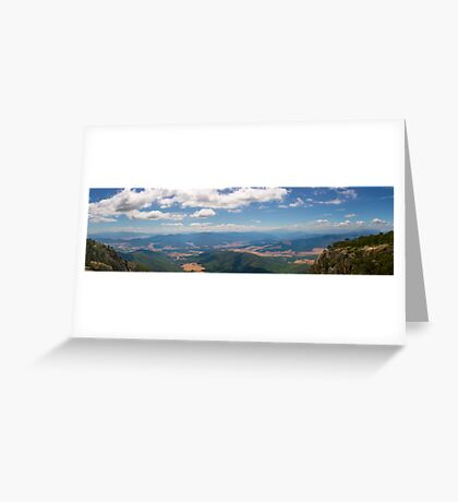 Vista of the Ovens Greeting Card