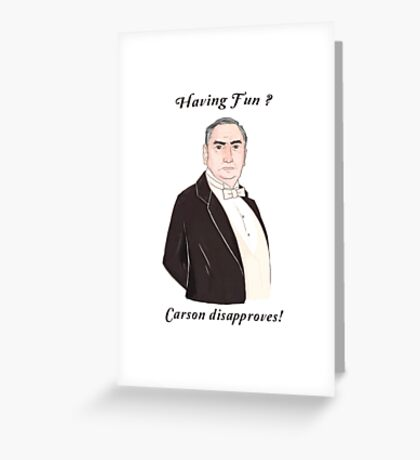 Carson Disapproves!  Greeting Card