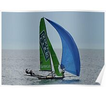 SKIFF ON LARGS BAY Poster
