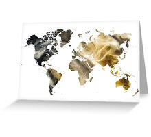 World Map Sandy world Greeting Card