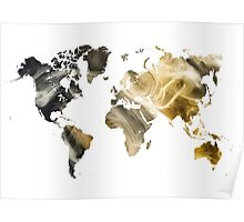 World Map Sandy world Poster