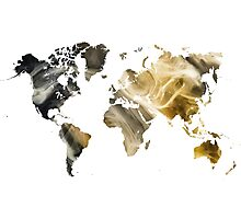 World Map Sandy world Photographic Print