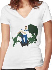 Jurassic Blart Women's Fitted V-Neck T-Shirt