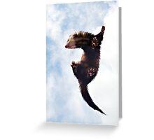 Flying Ferret Greeting Card