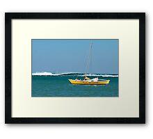 The Catamaran & The Cormorants Framed Print