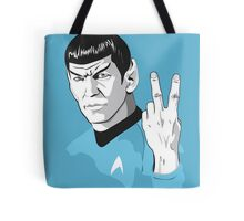 Star Trek Spock obscene hand gesture Tote Bag