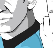 Star Trek Spock obscene hand gesture Sticker