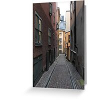 street in old town Greeting Card