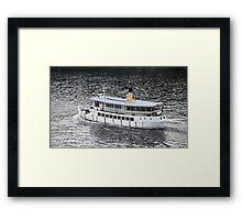 passenger steamer Framed Print