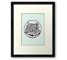 Fred the Succulent Framed Print