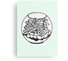 Fred the Succulent Metal Print